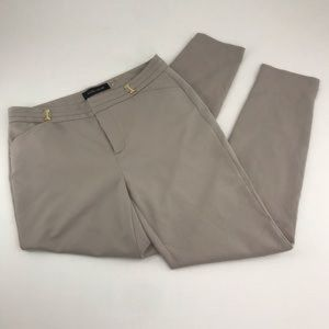 IVANKA TRUMP Grey Slim Skinny Ankle Pants 6